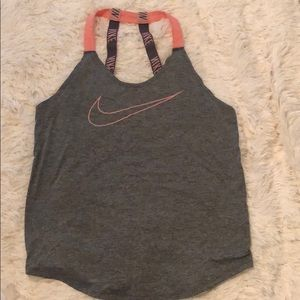 Tops - pink and gray nike dri-fit tank